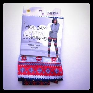 *3/$20* New Holiday Leggings Hearts Snowmen Large